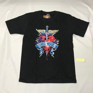 Bon Jovi/ボン・ジョビ プリントTシャツ ブラック M 男女兼用(Tシャツ(半袖/袖なし))