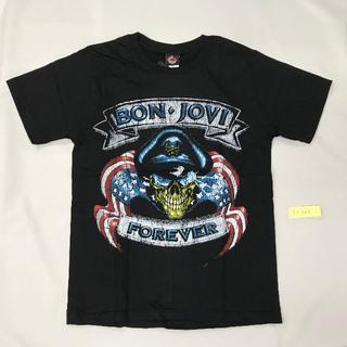 【在庫複数あり】BonJovi■プリントTシャツ■Mブラック■男女兼用(Tシャツ(半袖/袖なし))