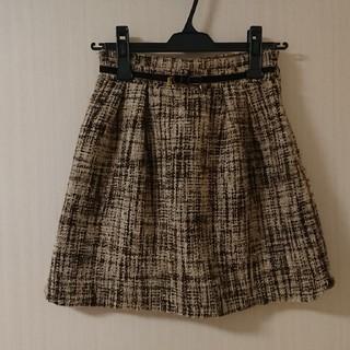 ロディスポット(LODISPOTTO)のロディスポット ツイード台形ミニスカート(ミニスカート)