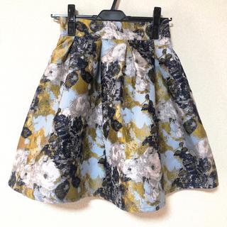 チェスティ(Chesty)のジャガード フラワー スカート(ひざ丈スカート)