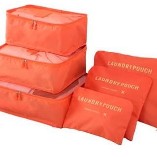 トラベルポーチ ランドリーポーチ オレンジ(旅行用品)