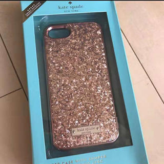 ケイトスペードニューヨーク(kate spade new york)のケイトスペード iPhone7/8 ロ—ズゴ—ルドキラキラ(iPhoneケース)