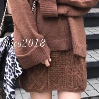who's who Chico - 2018最新作❀︎定価6372円ケーブルニットスカート