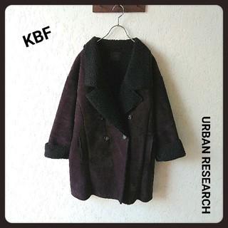 KBF - KBF URBAN RESEARCH エコムートンコート ブラック フリーサイズ