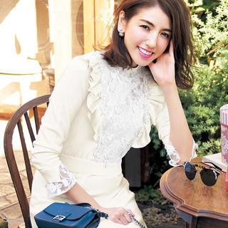 チェスティ(Chesty)の完売Chesty♡Flower Lace Knit Onepiece(ひざ丈ワンピース)