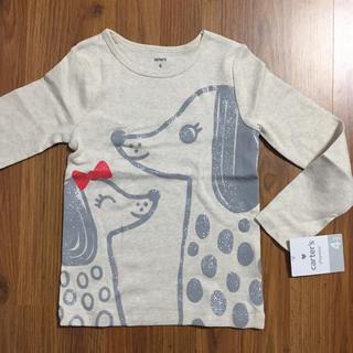 carter's - 新品 カーターズ わんちゃんプリントTシャツ 長袖 4T 100 110 ラメ