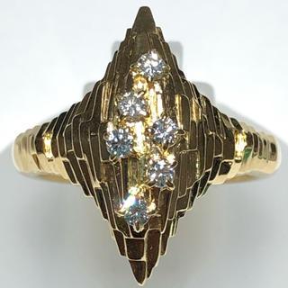 ポーラ(POLA)のPOLA ポーラ k18yg  ダイヤモンド リング 指輪 17号(リング(指輪))