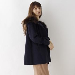 クチュールブローチ(Couture Brooch)のクチュールブローチファー付きフーデッドコート(毛皮/ファーコート)