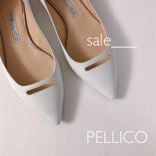 PELLICO - 【美品】PELLICO アンドレア フラットシューズ ホワイト パンプス