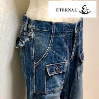 エターナルジーンズ(ETERNAL)の上物 古着 eternal エターナル クラッシュ加工ブッシュ デニム W32 (デニム/ジーンズ)