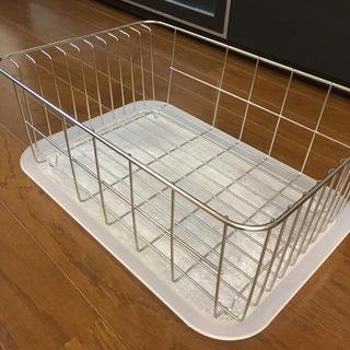 ムジルシリョウヒン(MUJI (無印良品))の無印良品 水切りカゴ ステンレス(収納/キッチン雑貨)