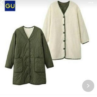 ジーユー(GU)のGU リバーシブル キルティング コート(ミリタリージャケット)