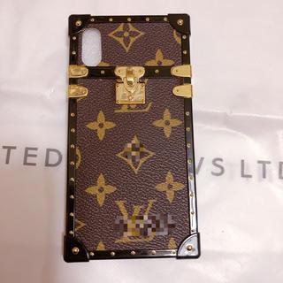 iPhone X ケース 茶色
