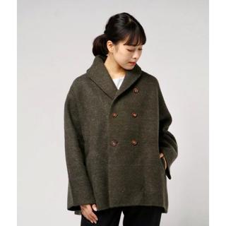 フォーティファイブアール(45R)の今季 美品 45R 縮絨ニットのPラップジャケット ウールジャケット 45rpm(ニットコート)