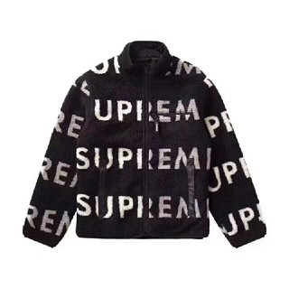 Supreme - supreme Reversible Logo Fleece Jacket 黒S
