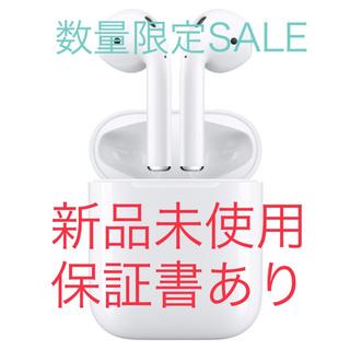 アップル(Apple)の12/19購入 新品未使用 AirPods Apple MMEF2J/A④(ヘッドフォン/イヤフォン)
