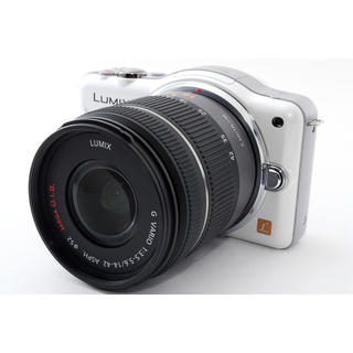 パナソニック(Panasonic)の☆大人気ミラーレス一眼カメラ☆LUMIX ルミックス GF3 ホワイト(ミラーレス一眼)