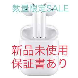 アップル(Apple)のSALE12/19購入新品未使用 AirPodsApple MMEF2J/AⅠ(ヘッドフォン/イヤフォン)