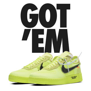 NIKE - 28cm NIKE AIR FORCE 1 LOW OFF WHITE VOLT