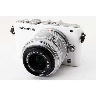 オリンパス(OLYMPUS)の☆Wi-Fiカードでスマホに写真転送☆オリンパス E-PL3 ホワイト(ミラーレス一眼)