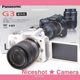 パナソニック(Panasonic)の☘スマホに送れる!☘コスパ最高☘自撮り,タッチパネルムービー☘パナソニックG3(ミラーレス一眼)