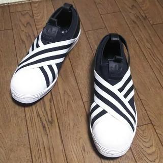 アディダス(adidas)の値下げ☆[美品]23.5㎝  adidas スリッポン スーパースター(スリッポン/モカシン)
