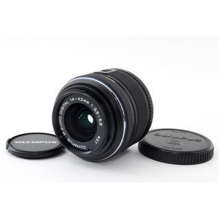 オリンパス(OLYMPUS)の★ペンシリーズ標準レンズ★M.ZUIKO 14-42mm II R ブラック(レンズ(ズーム))