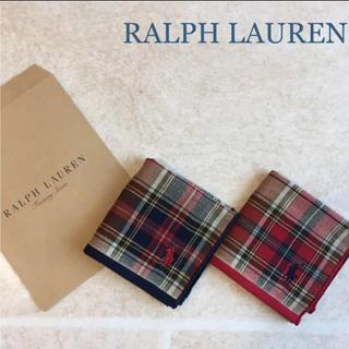 ラルフローレン(Ralph Lauren)のラルフローレン ハンドタオル ブリムフィールドプラッド ♡ 新品未使用 ♡(ハンカチ)
