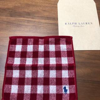 ラルフローレン(Ralph Lauren)のラルフローレンタオルハンカチ  新品未使用(ハンカチ)