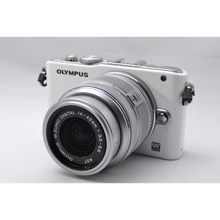 オリンパス(OLYMPUS)の❤️スッキリホワイト♪WiFi対応❤️オリンパス E-PL3 レンズキット(ミラーレス一眼)