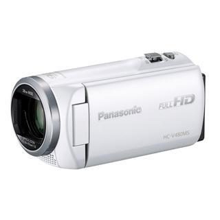 パナソニック(Panasonic)のほぼ新品☆Panasonic HC-V480MS ホワイト 元箱 ☆1年保証付(ビデオカメラ)