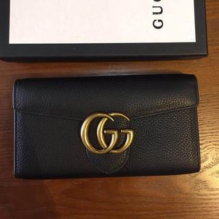グッチ(Gucci)のグッチ 長財布 〔GGマーモント〕 レザー コンチネンタルウォレット 正規品(財布)