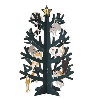 サンリオ クリスマスカード 洋風 立体 ネコツリー(その他)