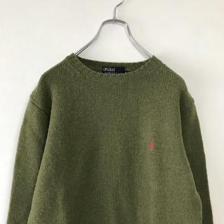 ラルフローレン(Ralph Lauren)のPOLO Ralph Lauren ワンポイント ニット セーター カーキ(ニット/セーター)