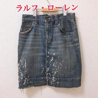 ラルフローレン(Ralph Lauren)のラルフ・ローレン デニムスカート W61(ミニスカート)