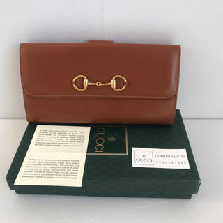 グッチ(Gucci)のオールドグッチ 長財布 レザー 茶(未使用品)(財布)