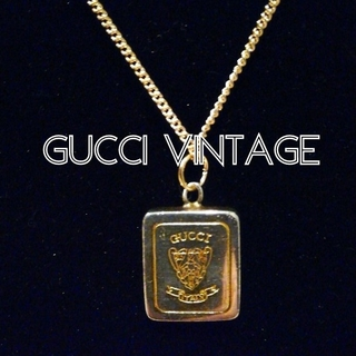 グッチ(Gucci)の希少 オールドグッチ チャームネックレス ユニセックス アンティーク 廃盤(チャーム)