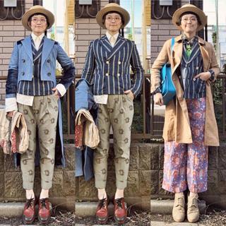 ラルフローレン(Ralph Lauren)の日本製ラルフローレンストライプ麻リネンテーラードジャケットインディゴコレクション(テーラードジャケット)