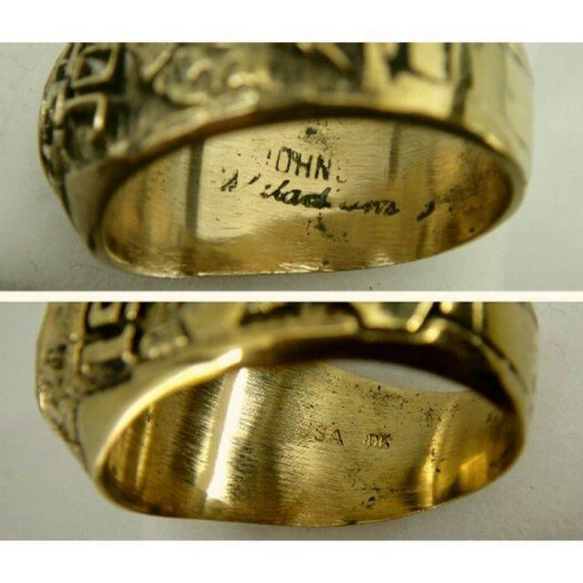 送料無料・Adena Highカレッジリング★US 11号・商品番号JG-58 メンズのアクセサリー(リング(指輪))の商品写真