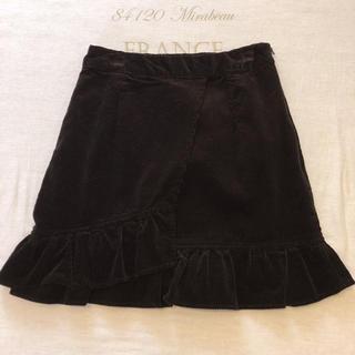 ローリーズファーム(LOWRYS FARM)のフリルコーデュロイスカート(ミニスカート)