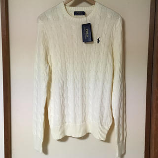 ラルフローレン(Ralph Lauren)のラルフローレン白ケーブルニットSフィッシャーマンズセーター(ニット/セーター)