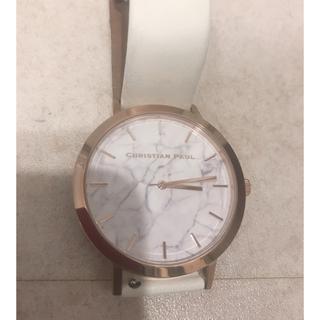 クリスチャンポー(CHRISTIAN PEAU)の christian paul クリスチャンポール 腕時計 白 レディース (腕時計)