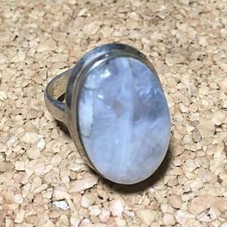 レインボームーンストーンのシルバーリング(14号)(リング(指輪))