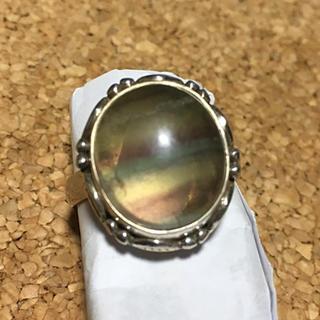 縞模様のフローライトシルバーリング(21号)(リング(指輪))