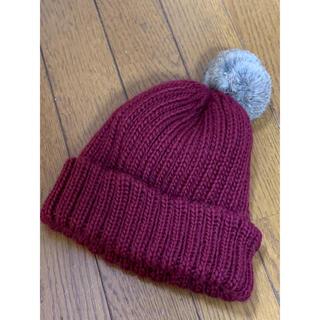 ローズバッド(ROSE BUD)のローズバッド ニット帽 ラビットファー(ニット帽/ビーニー)