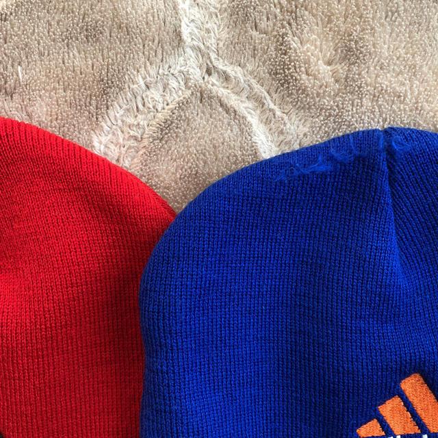 adidas(アディダス)のkidsニット帽 キッズ/ベビー/マタニティのキッズ服 男の子用(90cm~)(ニット)の商品写真