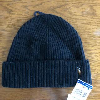 ラルフローレン(Ralph Lauren)の新品 タグ付き Ralph Lauren ニット帽 Black(ニット帽/ビーニー)