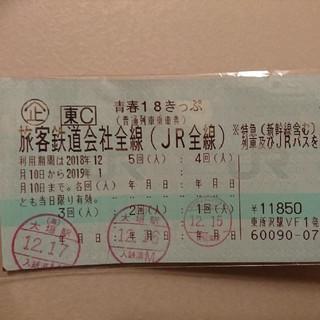 青春18きっぷ  1回 12/28発送(鉄道乗車券)