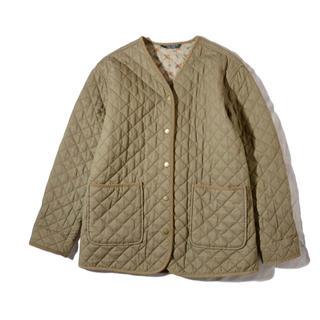 ローラアシュレイ(LAURA ASHLEY)のローラアシュレイ  キルティングジャケット  ノーカラーコート(ブルゾン)