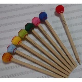 マレット鉛筆 3本 送料込み (マリンバ木琴バチ型)(木琴)